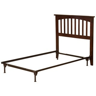 Mission Headboard TW with Metal Bed Frame Antique Walnut