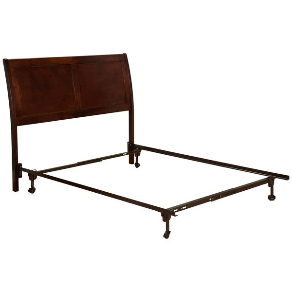 Shop Portland Headboard FL with Metal Bed Frame Antique Walnut - On ...