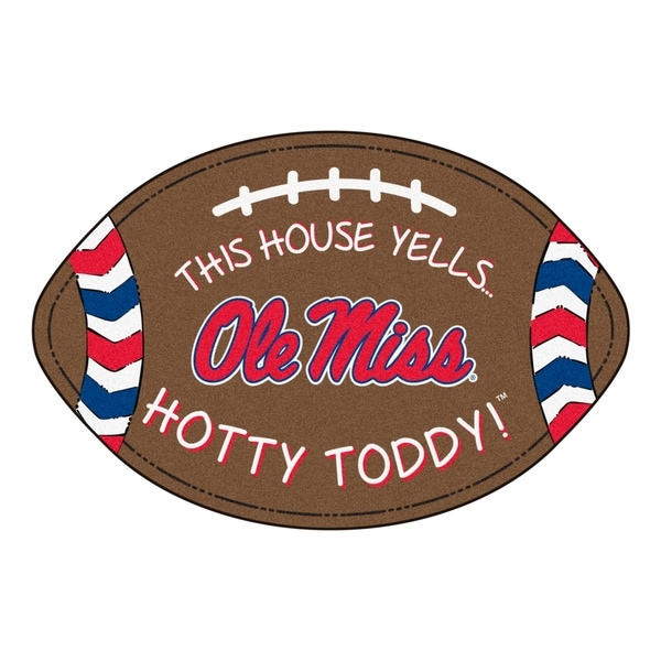 Shop Ole Miss Southern Style Football Rug 20 5 Quot X32 5