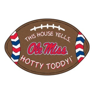 """Ole Miss Southern Style Football Rug 20.5""""x32.5"""""""