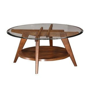 Eastport Round Glass Coffee Table