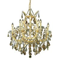 Fleur Illumination 13 light Gold Chandelier