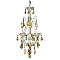Fleur Illumination 4 light Chrome Chandelier