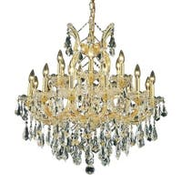 Fleur Illumination 19 light Gold Chandelier