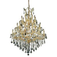 Fleur Illumination 28 light Gold Chandelier