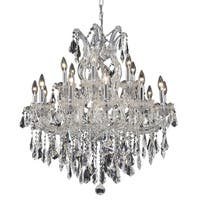 Fleur Illumination 19 light Chrome Chandelier