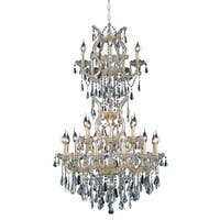 Fleur Illumination 25 light Gold Chandelier