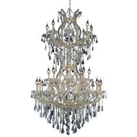 Fleur Illumination 34 light Gold Chandelier