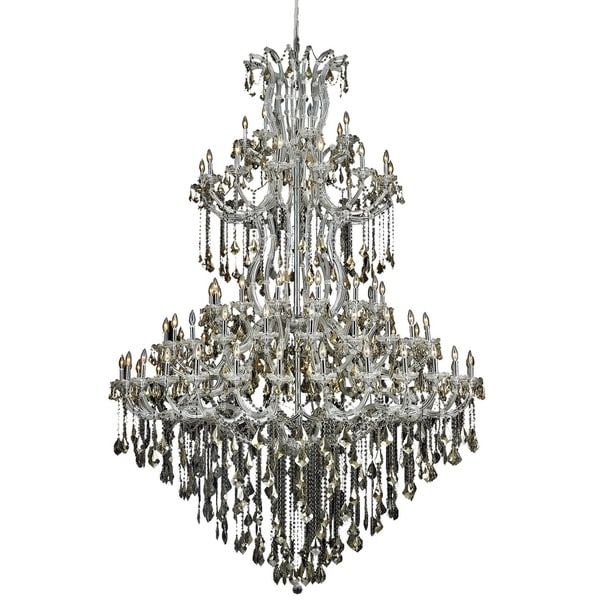 Fleur Illumination Collection Chandelier D:72in H:96in Lt:85 Chrome Finish