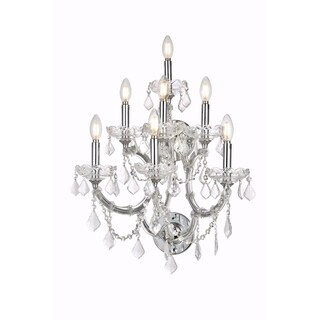 Fleur Illumination Collection Wall Sconce D:22in H:27in E:15.5in Lt:7 Chrome Finish