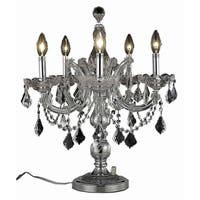 Fleur Illumination Collection Table Lamp D19in H22in LT:5 Chrome Finish