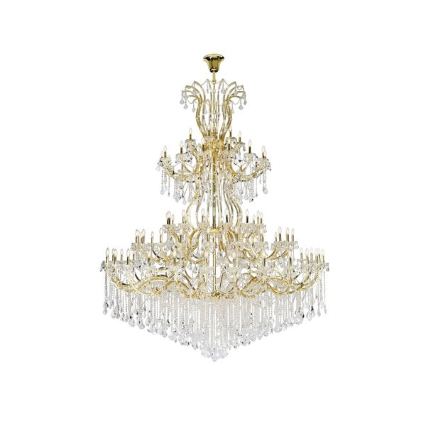 Fleur Illumination Collection Chandelier D:96in H:120in Lt:84 Gold Finish