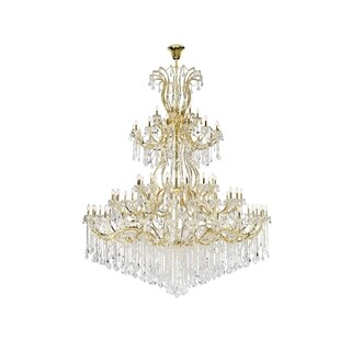 Fleur Illumination Collection Gold Steel 84-light Chandelier