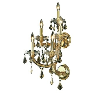 Fleur Illumination Collection Wall Sconce D:12in H:29.5in E:11.5in Lt:5 Gold Finish