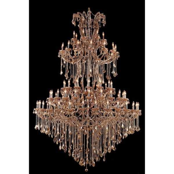 Fleur Illumination Collection Chandelier D:72in H:96in Lt:85 Golden Teak Finish