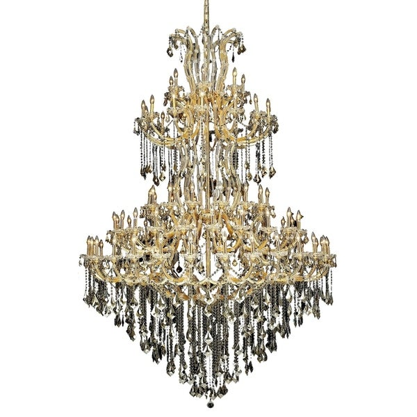 Fleur Illumination Collection Chandelier D:72in H:96in Lt:85 Gold Finish