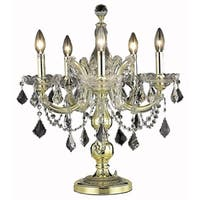 Fleur Illumination Collection Table Lamp D19in H22in LT:5 Gold Finish
