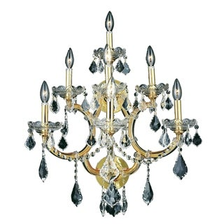Fleur Illumination Collection Wall Sconce D:22in H:27in E:15.5in Lt:7 Gold Finish