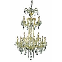 Fleur Illumination Collection Chandelier D:32in H:50in Lt:24 Gold Finish