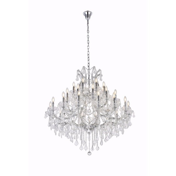 Fleur Illumination Collection Chandelier D:44in H:44in Lt:37 Chrome Finish