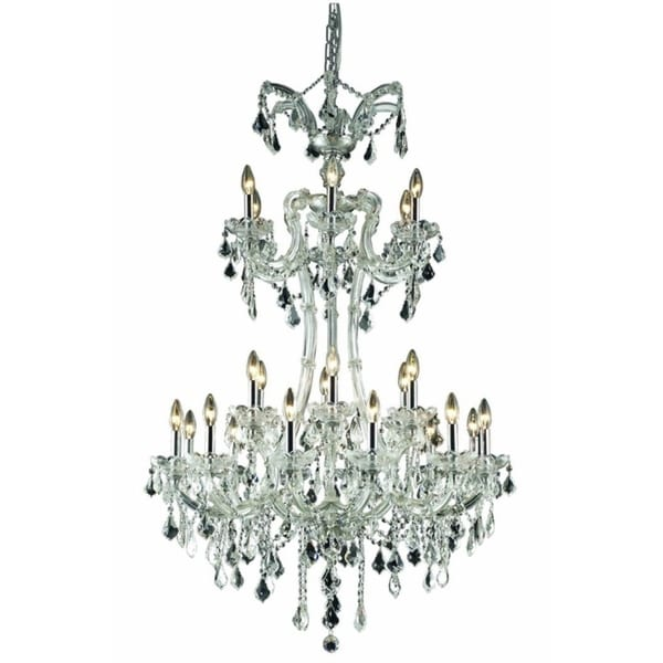 Fleur Illumination Collection Chandelier D:32in H:50in Lt:24 Chrome Finish