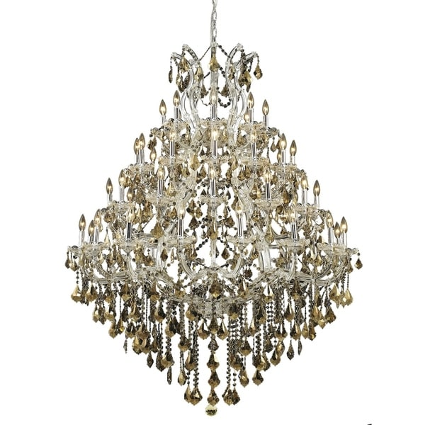 Fleur Illumination Collection Chandelier D:46in H:62in Lt:49 Chrome Finish