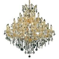 Fleur Illumination Collection Chandelier D:44in H:44in Lt:37 Gold Finish