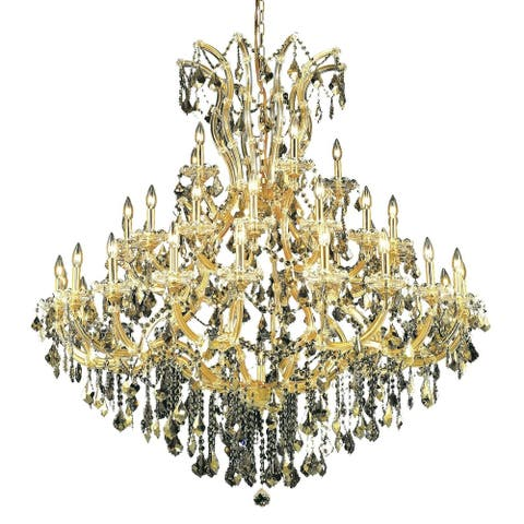 Fleur Illumination Collection Chandelier D:52in H:54in Lt:41 Gold Finish