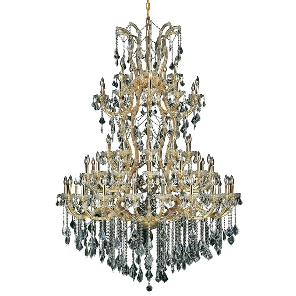 Fleur Illumination Collection Chandelier D:54in H:72in Lt:61 Gold Finish