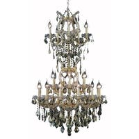 Fleur Illumination Collection Chandelier D:30in H:50in Lt:25 Gold Finish