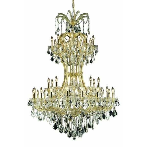 Fleur Illumination Collection Chandelier D:46in H:64in Lt:36 Gold Finish