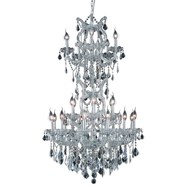 Fleur Illumination Collection Chandelier D:30in H:50in Lt:25 Chrome Finish