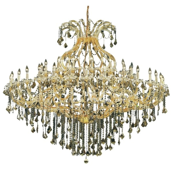 Fleur Illumination Collection Chandelier D:72in H:60in Lt:49 Gold Finish