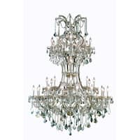 Fleur Illumination Collection Chandelier D:46in H:64in Lt:36 Golden Teak Finish