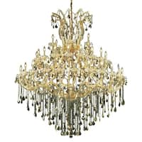 Fleur Illumination Collection Chandelier D:60in H:72in Lt:49 Gold Finish