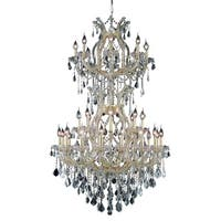 Fleur Illumination Collection Chandelier D:36in H:56in Lt:34 Gold Finish