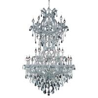 Fleur Illumination Collection Chandelier D:36in H:56in Lt:34 Chrome Finish