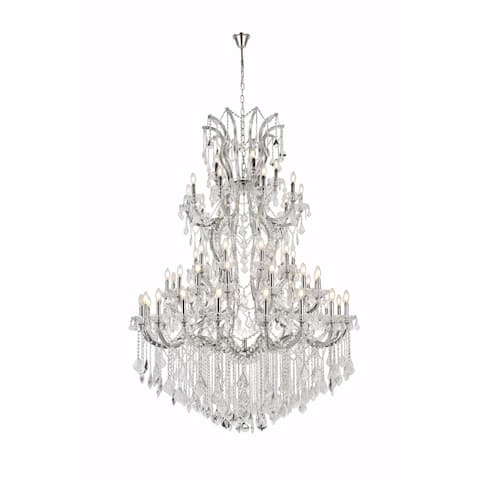 Fleur Illumination Collection Chandelier D:54in H:72in Lt:61 Chrome Finish