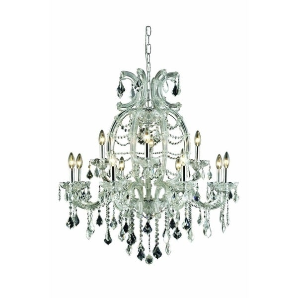 Fleur Illumination Collection Chandelier D:33.5in H:35.5in Lt:12 Chrome Finish