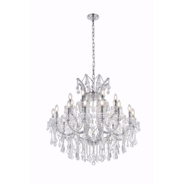 Fleur Illumination Collection Chandelier D:36in H:36in Lt:24 Chrome Finish