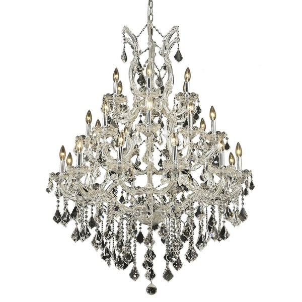 Fleur Illumination Collection Chandelier D:38in H:52in Lt:28 Chrome Finish