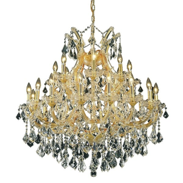 Fleur Illumination Collection Chandelier D:36in H:36in Lt:24 Gold Finish