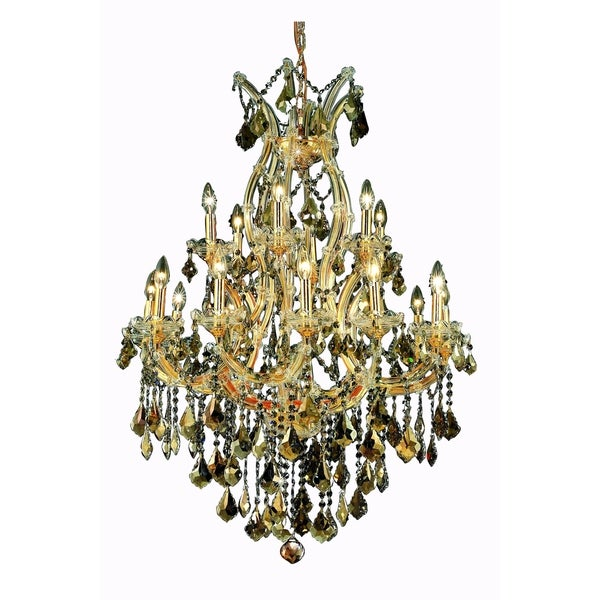 Fleur Illumination Collection Chandelier D:32in H:42in Lt:19 Gold Finish