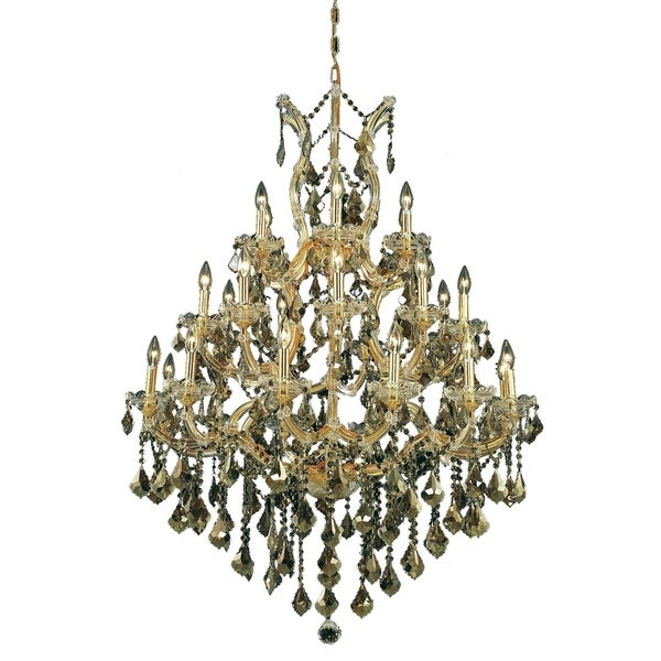 Fleur Illumination Collection Chandelier D:38in H:52in Lt:28 Gold Finish