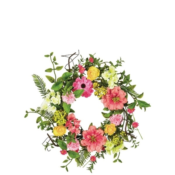 Spring Flower and Berry Wreath