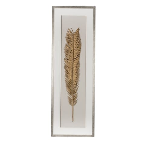 Gold Leaf Framed Wall Art 16x47 inches