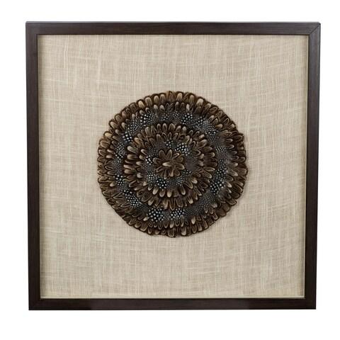 Feather Medallion 24-inch x 24-inch x 1.5-inch Wall Art