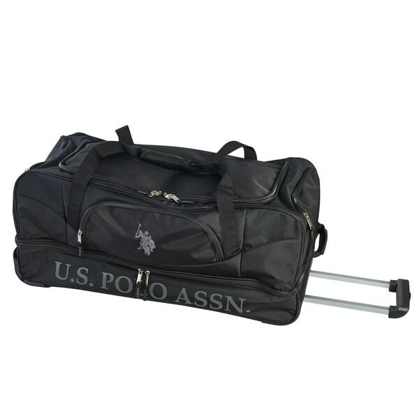 2fa7eb9c6c61 Shop U.S. Polo Assn. 30-inch Black Deluxe Drop Bottom Rolling Duffel ...