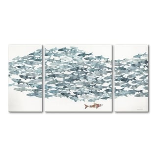 Norman Wyatt Home The Explorer 30 X 60 Triptych Gallery Wrapped Canvas Art - 60 x 30