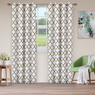Superior Bohemian Trellis Blackout Grommet Curtain Panel Pair